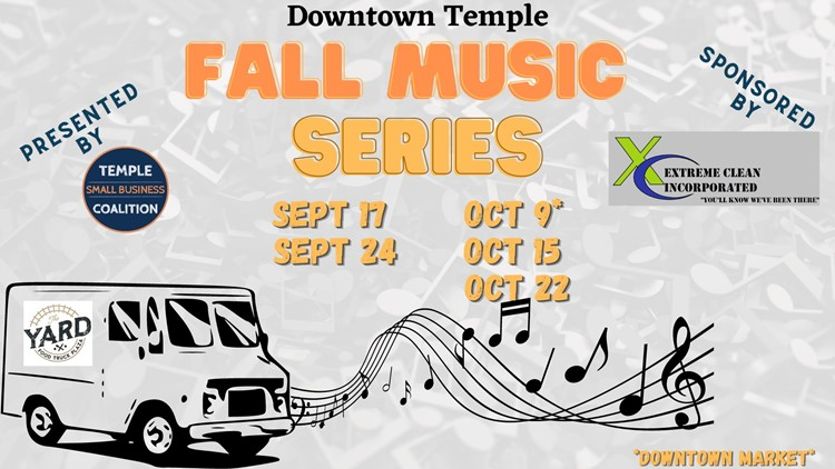 Fall Music Series kicks off Friday in Downtown Temple
