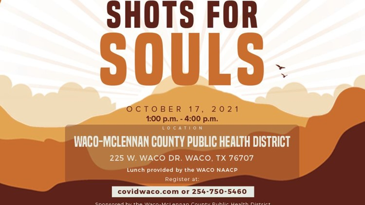 Waco-McLennan County Public Health District holds first 'Shots for Souls' vaccination event