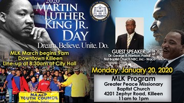 Killeen's Martin Luther King Jr. march returns to city hall