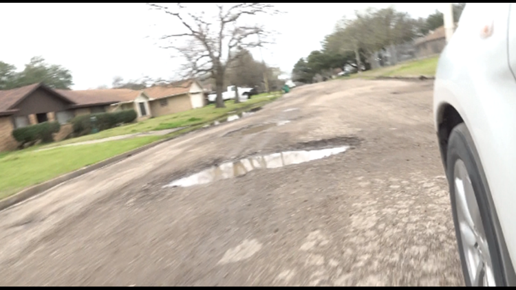 Marlin residents patching their own streets