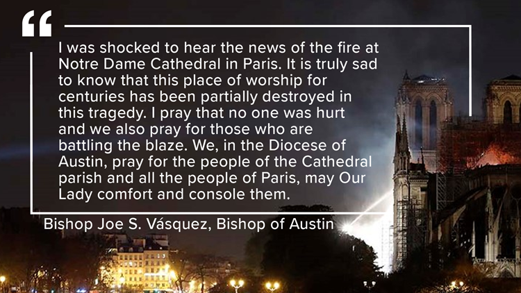 Austin Diocese Notre Dame Cathedral statement