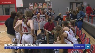 High school girls basketball: #18 Lorena vs. #3 Connally