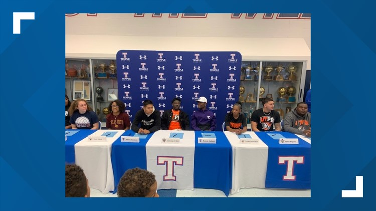 020520 Temple High School signing
