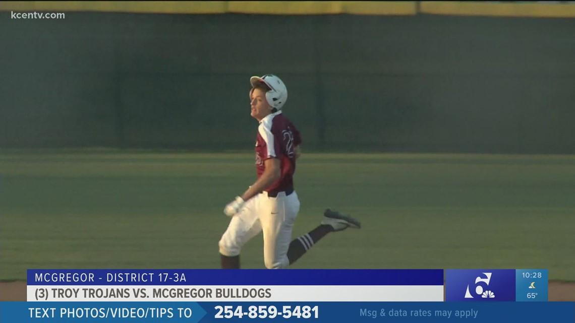 Troy Trojans baseball beats McGregor Bulldogs 12-1 in five