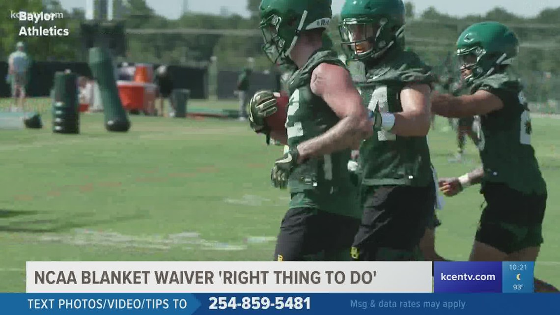 NCAA blanket eligibility waiver 'right thing to do'