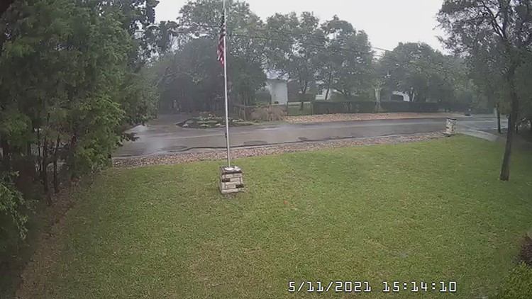 WATCH: Lightning strike hits residential area during stormy weather
