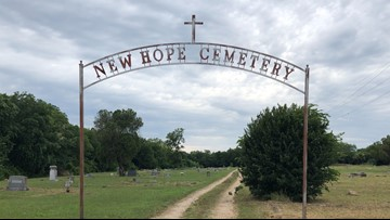 Centex Broncos clean New Hope Cemetery in Temple