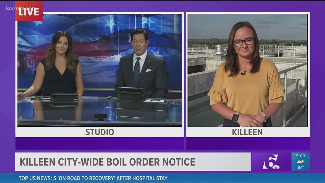 Updates on Killeen city-wide boil order notice