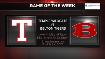 Temple defeats Belton in week 6 Game of the Week