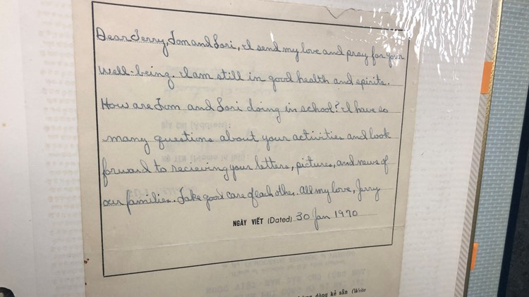 Curtis' letter to his wife
