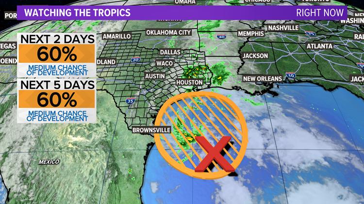 Gulf disturbance could bring more rain to Central Texas