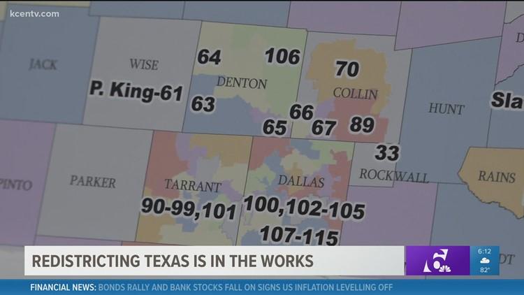 Redistricting in Texas now underway