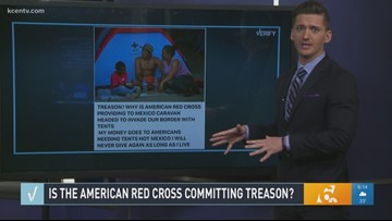 Verify: Is the American Red Cross committing treason?