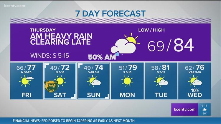 Heavy rain arrives Wednesday night   Central Texas Forecast