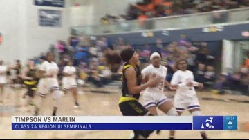 High school girls basketball playoffs: Timpson vs. Marlin