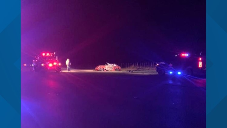 Critically injured driver cut out of vehicle after car wreck