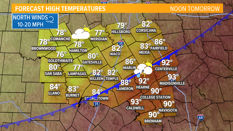 Heating up more on Monday   Central Texas Forecast