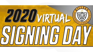Killeen ISD hosts virtual signing day for 45 student-athletes