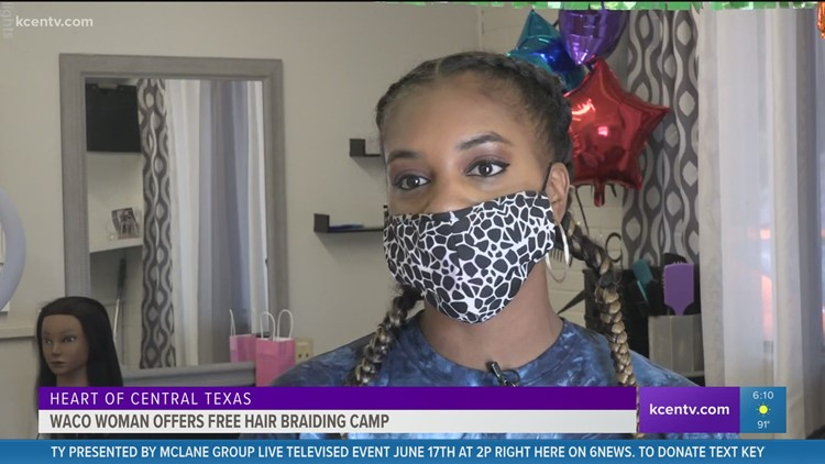 Heart of Central Texas   Waco woman offers free hair braiding camp