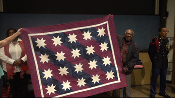 Temple VA staff members awarded Quilts of Valor