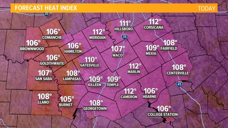 July 10, 2019 heat index