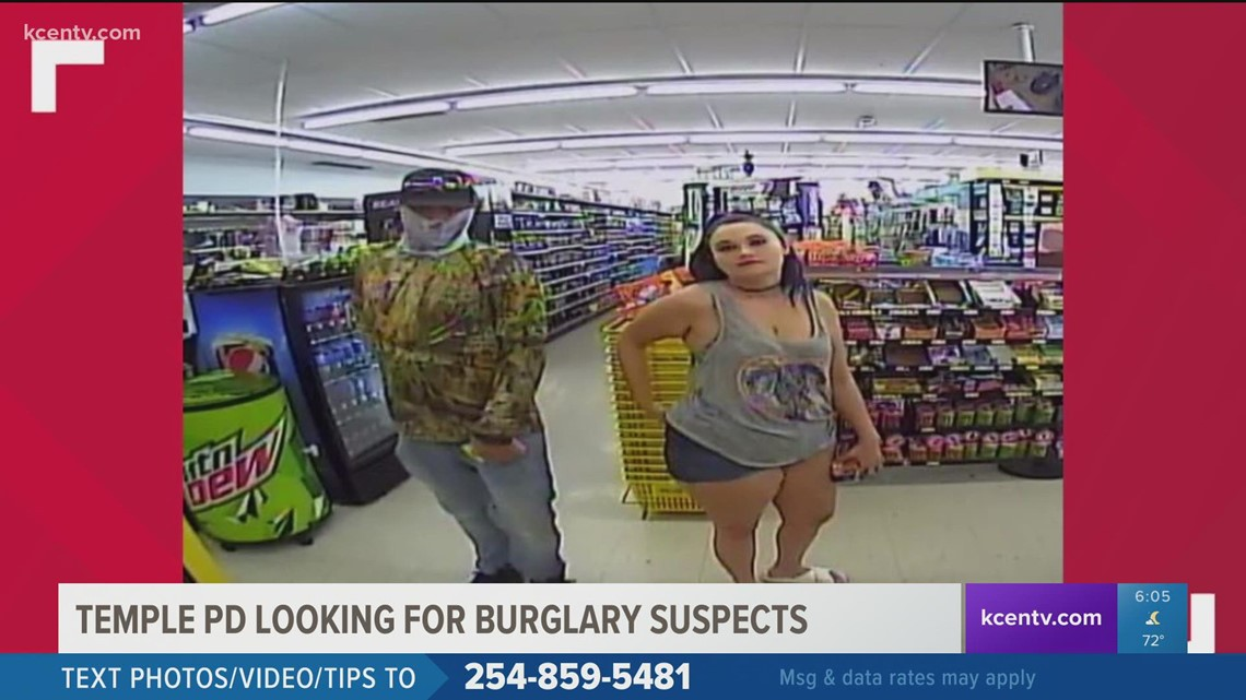 Temple PD looking for burglary suspects
