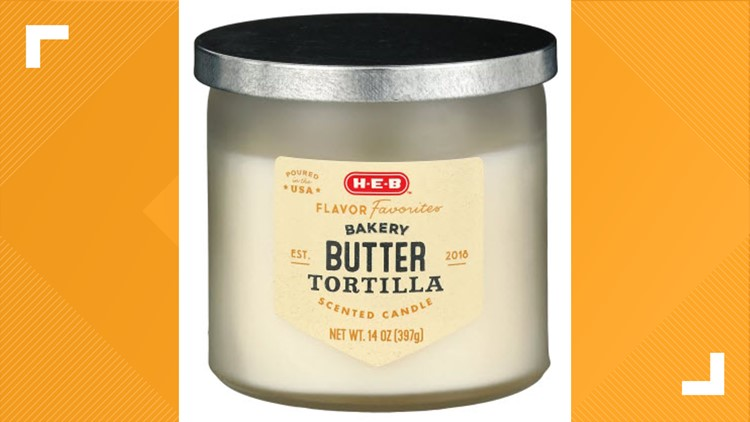 Butter tortilla-scented candles now sold at H-E-B