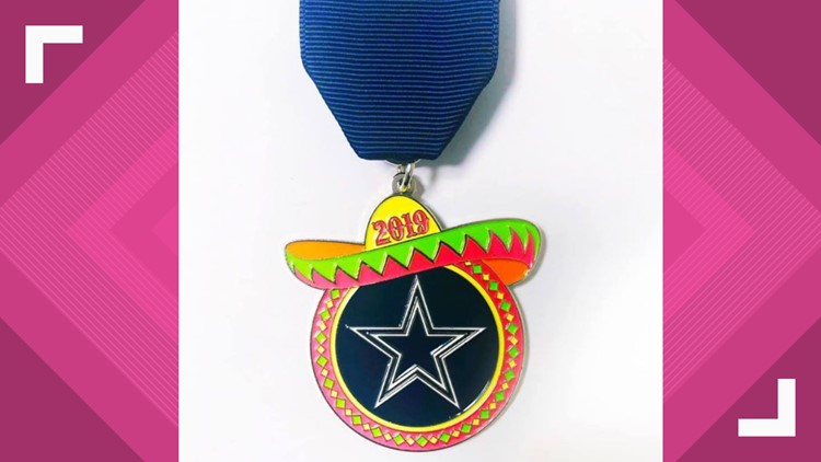 First official Dallas Cowboys Fiesta medal unveiled