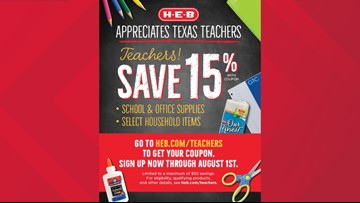 H-E-B celebrates teachers with discounts on school supplies