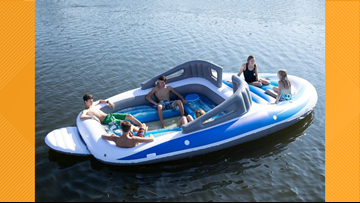 You can throw a party on the water with this inflatable boat