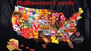 Map shows favorite Halloween candy by state