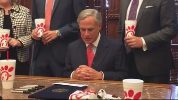 Gov. Abbott holds ceremonial signing of 'Chick-fil-A' bill