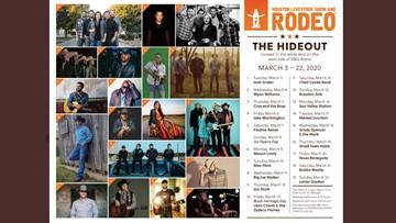 Dust off the cowboy boots: RodeoHouston announces The Hideout 2020 lineup
