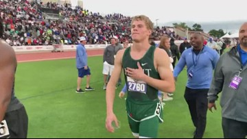 New record! Matthew Boling of Strake Jesuit just set a new national mark for the 100-meter