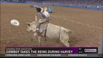 Bull rider saved dozens during Harvey