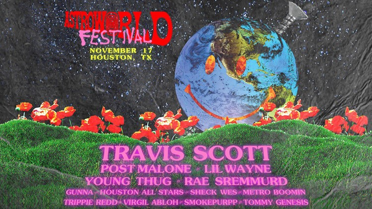 Travis Scott announces full lineup for ASTROWORLD Festival