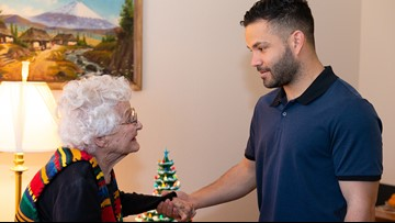 Jose Altuve surprises Astros superfan for her 100th birthday