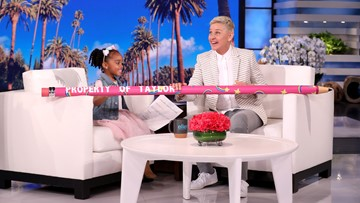 Texas girl who had perfect attendance pencil stolen appears on 'Ellen'