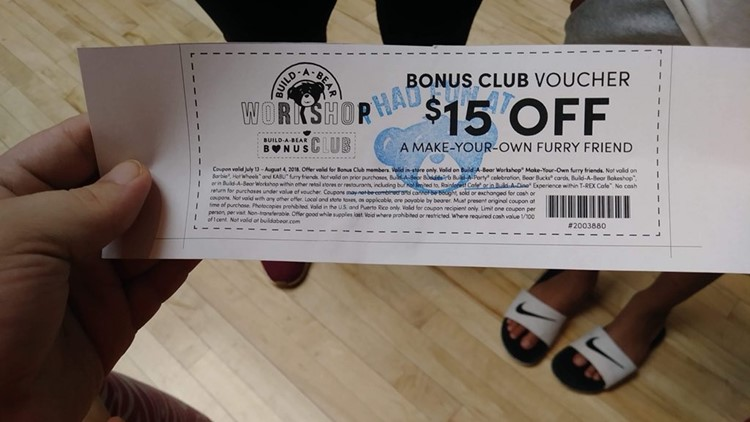 Build a Bear now handing out vouchers at Katy Mills Mall. Photo courtesy: Rebecca Hill