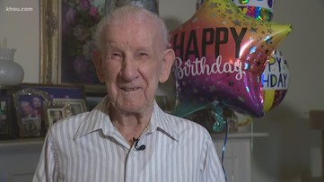 100-year-old Spring Branch WWII veteran honored at block party