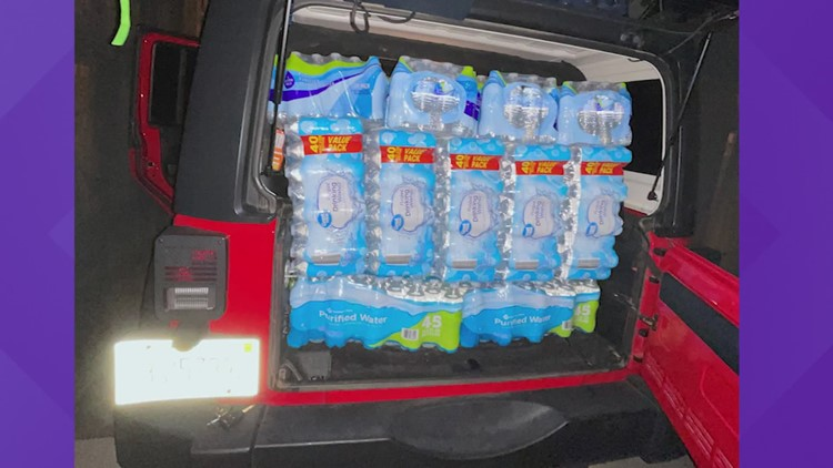 Woman drives from Mississippi to Houston to deliver donations to shelter affected by winter storm