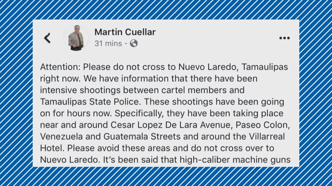 Laredo police: No spillover, issues on United States side of the border after new reports of violence in Nuevo Laredo