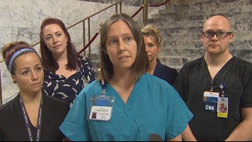 Nurses demand change to bill requiring 8-hour shift limit in Washington