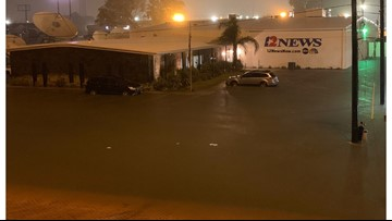 12News in Beaumont, Texas, evacuated due to flooding from Imelda