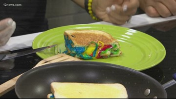 Rainbow grilled cheese sandwiches are a thing and they're taking over your Instagram feed
