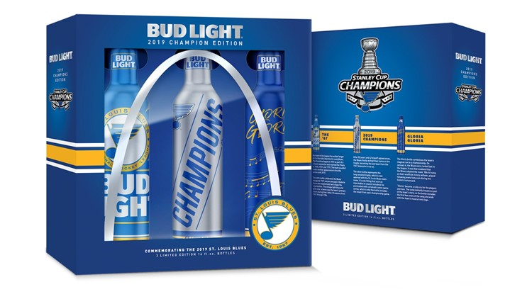blues bud light stanley cup bottles