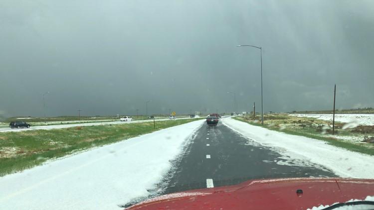 Hail on I76 near Wiggins courtesy Sharon Jones