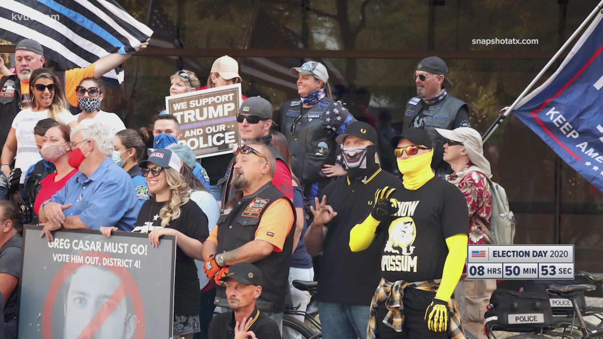 Who are the 'Proud Boys'? Photos of Austin protesters circulating ...