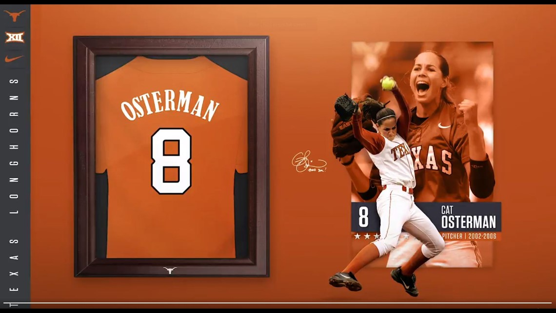 Hook Em! 🤘 Texas Longhorns to retire Cat Osterman's No. 8 jersey