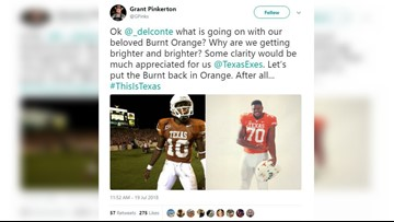 Not so burnt orange? Texas fans disgruntled on Twitter by apparent uniform color change